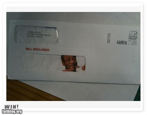 bill,bill cosby,celeb,Jello,mail,postage,pudding,pun