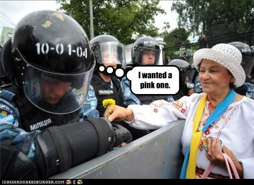 Riot Police Can't Be Choosers