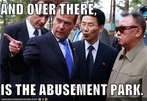 AND OVER THERE,  IS THE ABUSEMENT PARK.