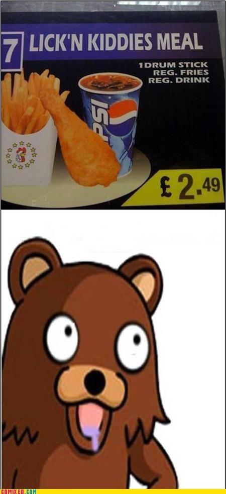 Pedobear's Favorite Meal