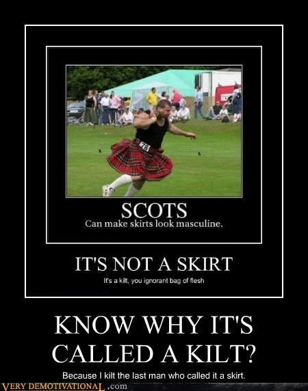 KNOW WHY IT'S CALLED A KILT?