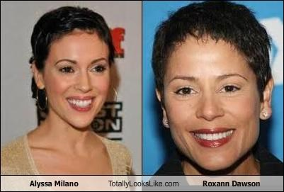 Alyssa Milano Totally Looks Like Roxann Dawson
