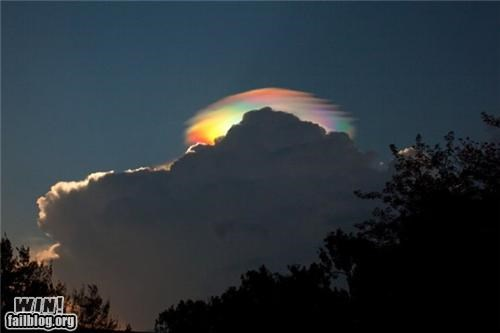 Mother Nature FTW: Iridescent Cloud