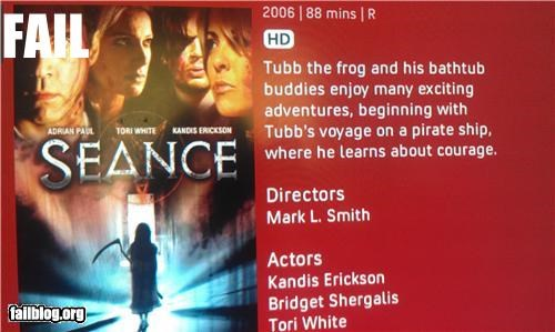 Horror Film Description FAIL