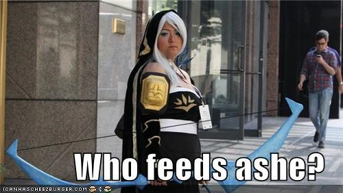 Who feeds ashe?