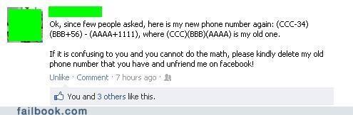 math,number,phone number,unfriend