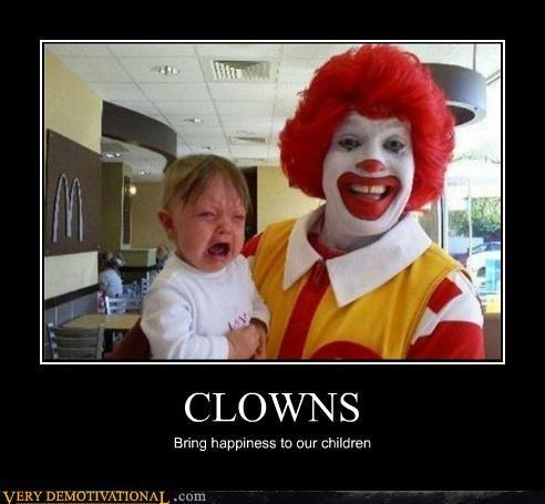 clowns,happiness,Ronald McDonald,Terrifying