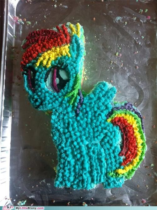 20% Cooler: Rainbow Dash Cake, Brony