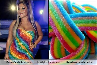 Deena's VMAs Dress Totally Looks Like Rainbow Candy Belts