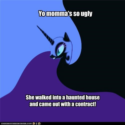 Nightmare Moon's Yo Momma jokes: a haunting