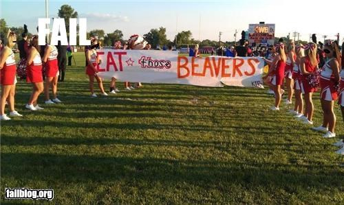 Cheerleader Banner FAIL