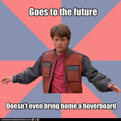 3 years left 'till we're supposed to have hoverboards!