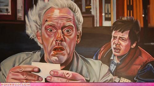 Back To The Future Trilogy In Acrylic