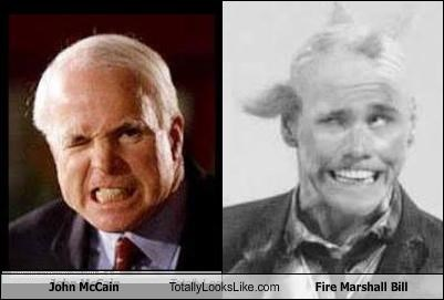 John McCain Totally Looks Like Fire Marshall Bill