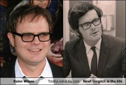 Rainn Wilson Totally Looks Like Newt Gingrich in the 60s
