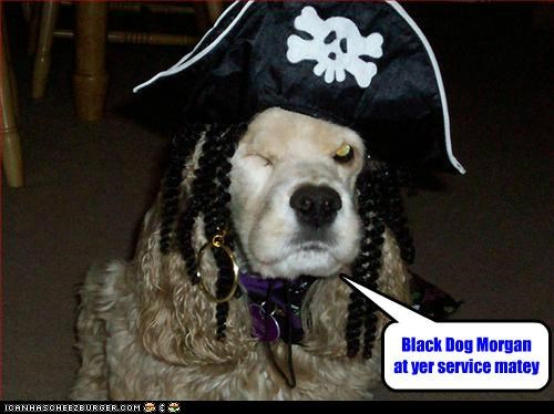 Black Dog Morgan at yer service matey