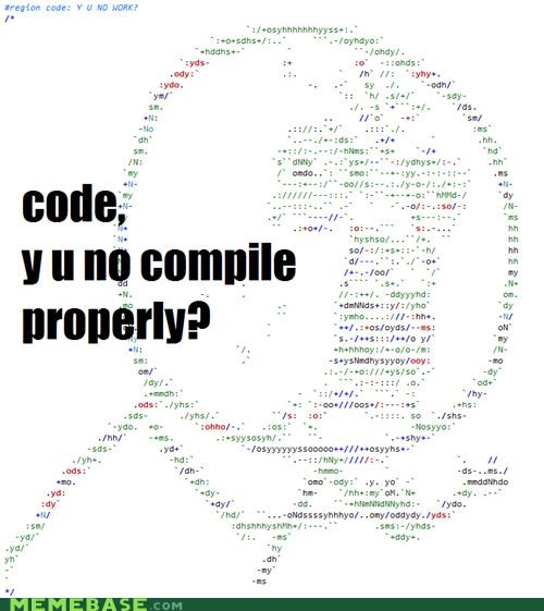 code,compile,nerds,what,Y U No Guy
