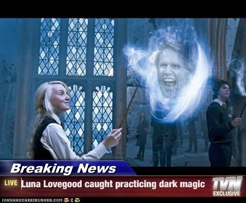 Breaking News - Luna Lovegood caught practicing dark magic
