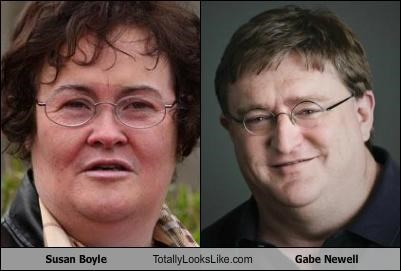 Susan Boyle Totally Looks Like Gabe Newell