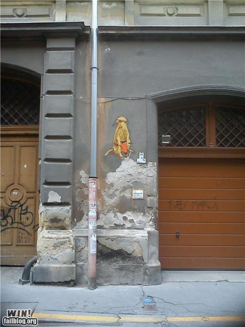 animals,construction,graffiti,hacked irl,jackhammer