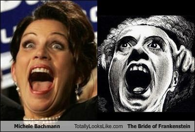 Michele Bachmann Totally Looks Like The Bride of Frankenstein