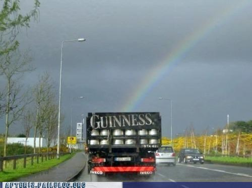 beer,guinness,Hall of Fame,leprechaun,pot of gold,rainbow,truck