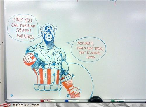 captain america,it,whiteboard