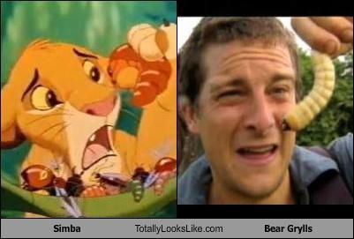 bear grylls,bugs,lion king,simba