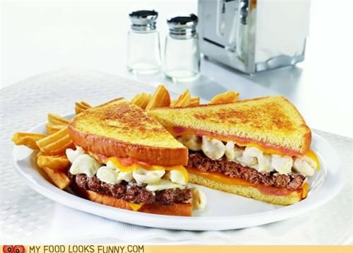 Denny's Mac 'n Cheese Patty Melt