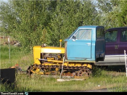 bulldozer,car,dual use,frankenstein