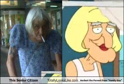 "This Senior Citizen Totally Looks Like Herbert the Pervert from ""Family Guy"""