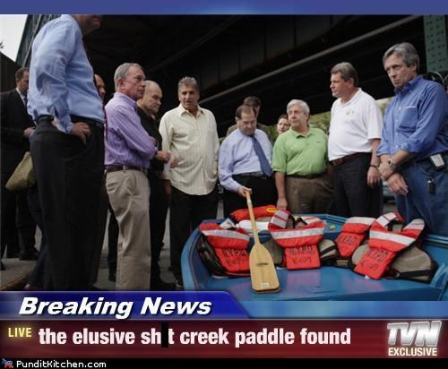 Breaking News - the elusive shit creek paddle found