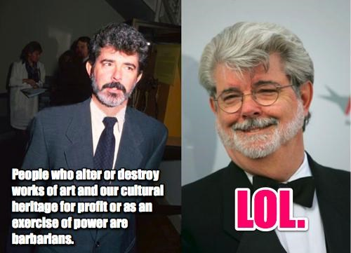 George Lucas vs. George Lucas of the Day