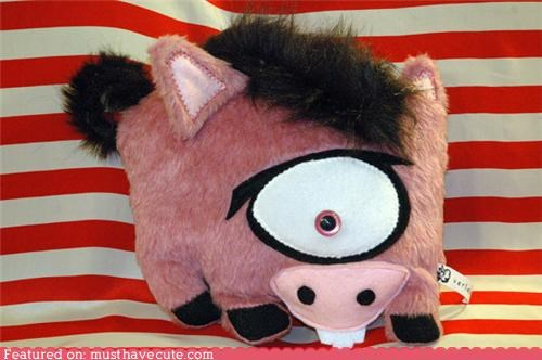 cyclops,pig,Plush,toy,ugly