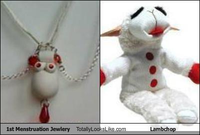 Embarrassing 1st Menstruation Jewelry Totally Looks Like Lambchop