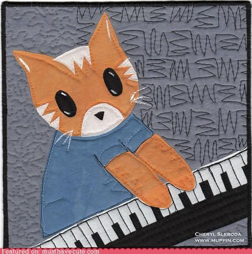 Keyboard Cat,quilt,sewing