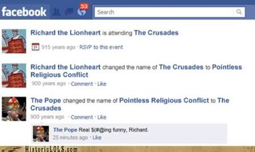 8 Funny Historical Facebook Updates