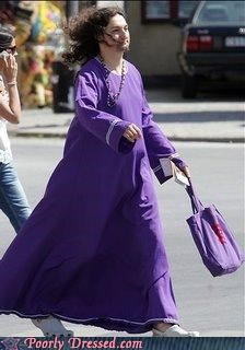 Purple Jesus in Crocs
