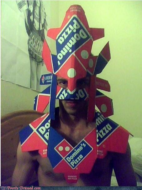 consumer of pizza,dominos,fashion,fashioned out of cardboard,galactus,g rated,pizza box cosplay,pizza is rad,poorly dressed