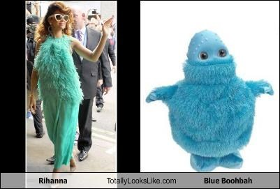 blue,blue boohbah,Fluffy,pop singers,rihanna,ugly clothes