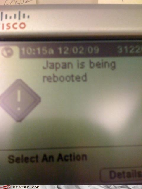 Japan,printer,reboot,restart