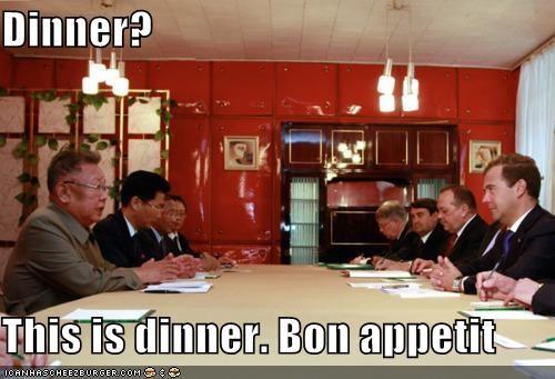 Dmitry Medvedev,Kim Jong-Il,North Korea,political pictures