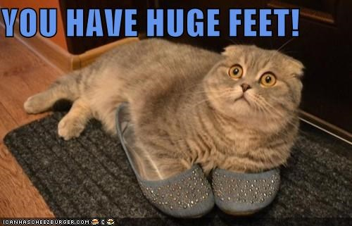 YOU HAVE HUGE FEET!