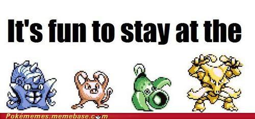 1st gen,alakazam,mankey,Memes,omastar,pokemon gym,ymca