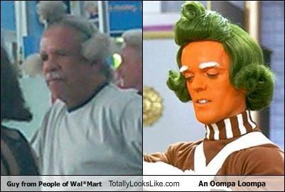 Charlie and the Chocolate Factory,green hair,oompa loompa,orange skin,random guy,random person