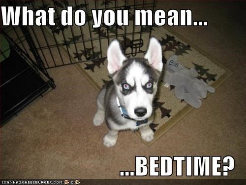 What do you mean...  ...BEDTIME?