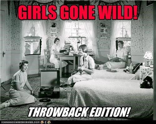 1950s,black and white,grils gone wild,historic lols,sleepover,vintage