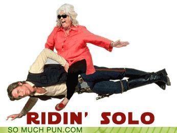 double meaning,Han Solo,homophone,literalism,meme,Memes,paula deen,paula deen riding things,riding solo,star wars