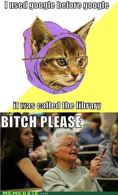 google,kitty,library,Senior Freshman