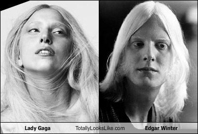 Lady Gaga Totally Looks Like Edgar Winter